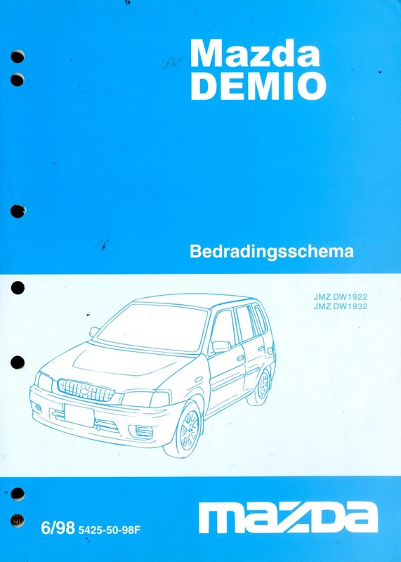 1998 mazda demio electrical wiring diagram workshop manual dutch rh autolit eu mazda demio service manual pdf mazda demio owners manual pdf