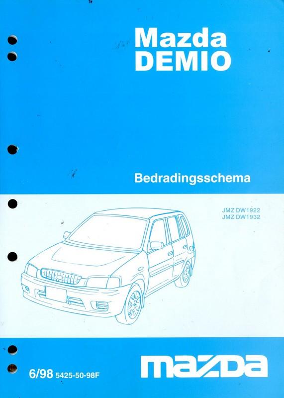 1998 MAZDA DEMIO ELEKTRIKPLAN SCHALTPLAN WERKSTATTHANDBUCH NIEDERLÄ...