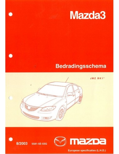 2003 mazda 3 bedradingsschema werkplaatshandboek nederlands