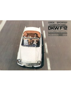 1964 DKW F12 ROADSTER BROCHURE NEDERLANDS