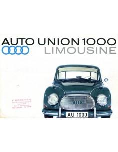 1962 DKW 1000 BROCHURE DUITS