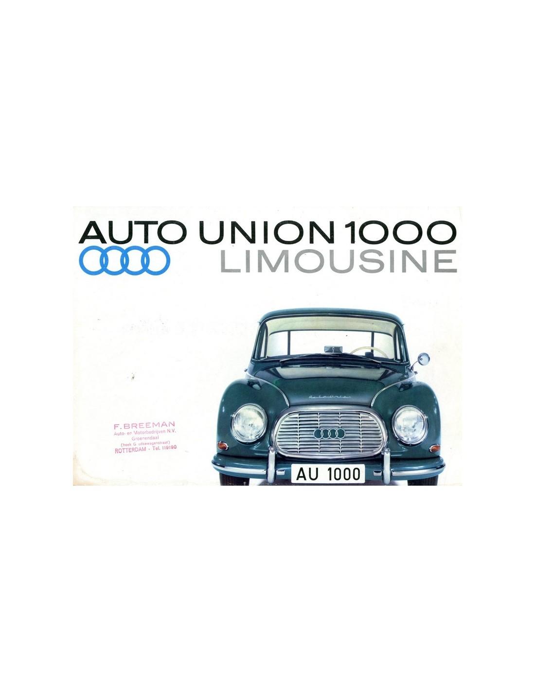 Bmw Z3 Brochure: 1962 DKW 1000 BROCHURE GERMAN