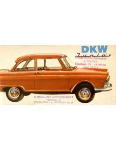1960 DKW JUNIOR BROCHURE NEDERLANDS