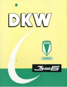 1959 DKW 3-6 BROCHURE NEDERLANDS