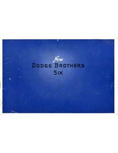 1929 DODGE BROTHERS SIX BROCHURE ENGELS USA
