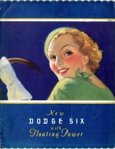 1933 DODGE SIX BROCHURE ENGELS USA