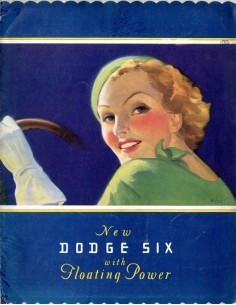 1933 DODGE SIX BROCHURE ENGELS USA