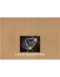 1979 LANCIA GAMMA BERLINA BROCHURE DUITS