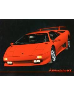 1993 LAMBORGHINI DIABLO VT LEAFLET ENGLELS