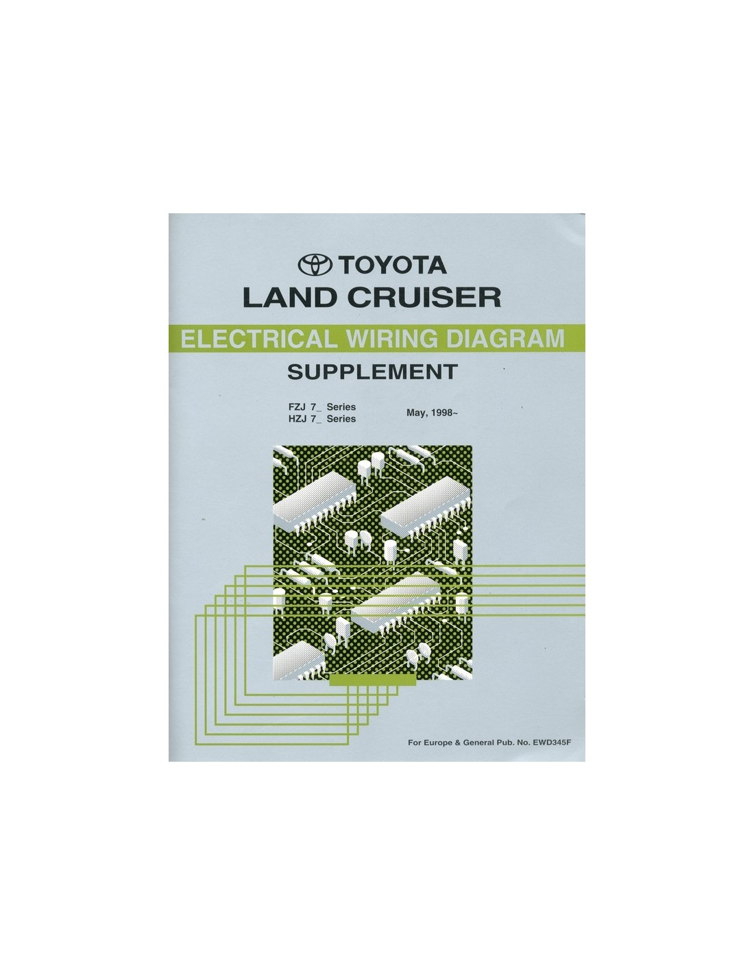1998 TOYOTA LANDCRUISER ELECTRICAL WIRING DIAGRAM SUPPLEMENT WORKSH...