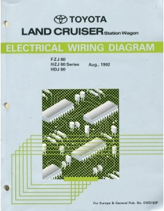 1992 TOYOTA LANDCRUISER STATION WAGON ELECTRISCHE SCHEMA'S WERKPLAATSHANDBOEK ENGELS