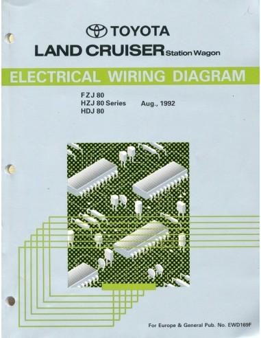 1992 Toyota Landcruiser Station Wagon Electrical Wiring Diagram Workshop Manual English