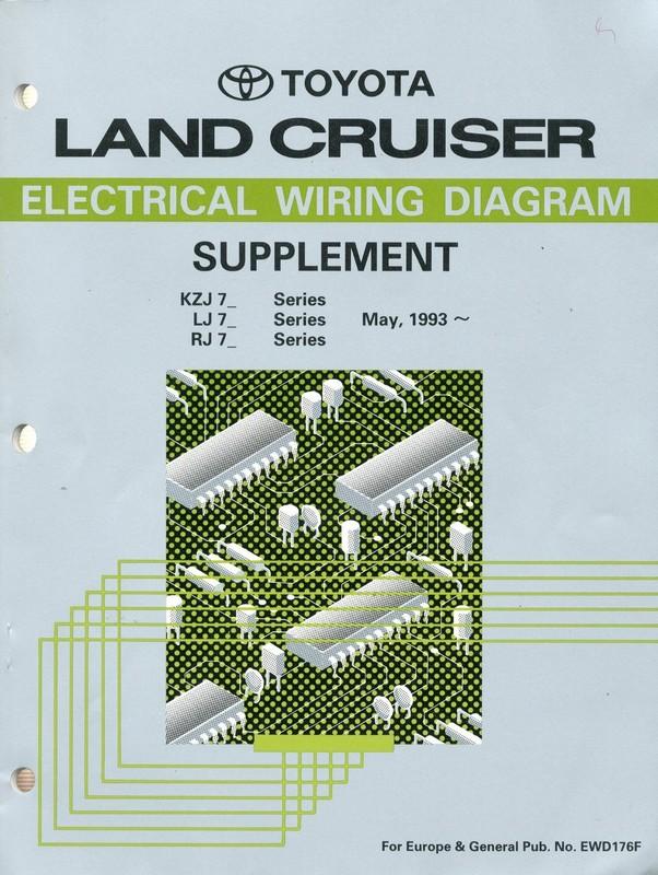 1993 TOYOTA LANDCRUISER ELECTRICAL    WIRING       DIAGRAM    SUPPLEMENT WORKSH