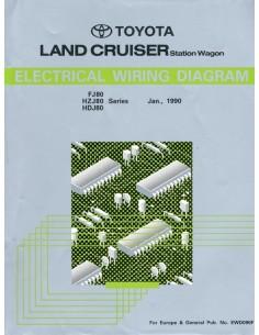 1990 TOYOTA LANDCRUISER STATION WAGON ELECTRISCHE SCHEMA'S WERKPLAATSHANDBOEK ENGELS