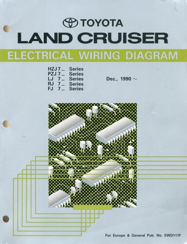 1990 TOYOTA LANDCRUISER ELECTRICAL WIRING DIAGRAM WORKSHOP MANUAL E...