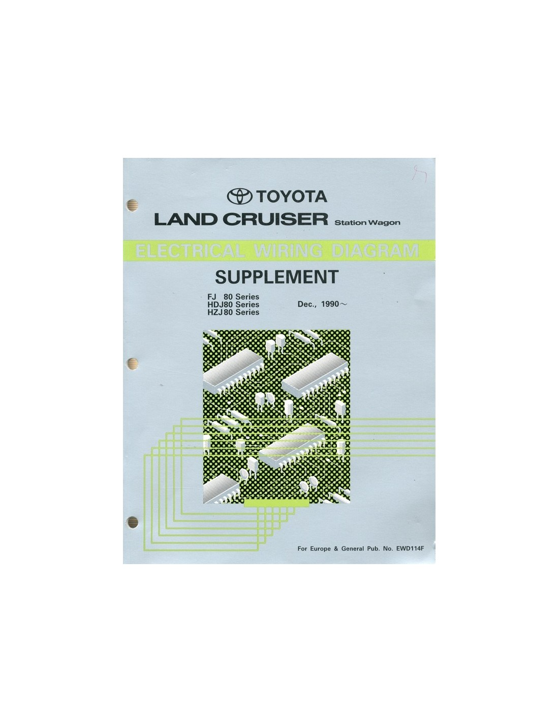 wiring diagram ford f series 1990 toyota landcruiser station wagon supplement ... #15