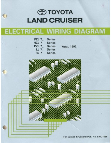 1992 Toyota Landcruiser Electrical Wiring Diagram Workshop Manual E
