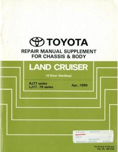 1990 TOYOTA LANDCRUISER CHASSIS & CAROSSERIE WERKPLAATSHANDBOEK ENGELS