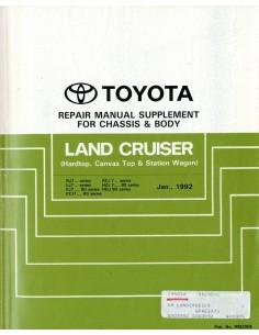 1992 TOYOTA LANDCRUISER CHASSIS & CAROSSERIE WERKPLAATSHANDBOEK ENGELS