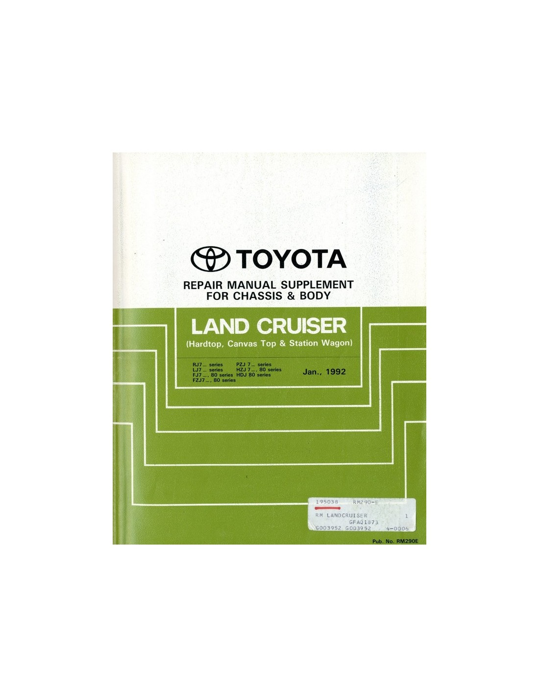 Toyota landcruiser hzj manual array 1992 toyota land cruiser chassis u0026 body repair manual english rh autolit eu fandeluxe Gallery