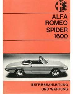 1968 ALFA ROMEO SPIDER 1600 INSTRUCTIEBOEKJE DUITS