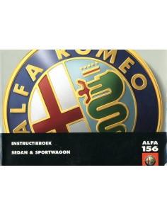 2000 ALFA ROMEO 156 + SPORTWAGON INSTRUCTIEBOEKJE NEDERLANDS