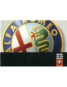 2000 ALFA ROMEO 156 SW ONDERHOUDSBOEKJE NEDERLANDS