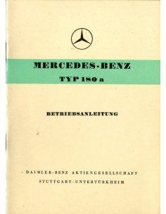 1958 MERCEDES BENZ 180 A INSTRUCTIEBOEKJE DUITS