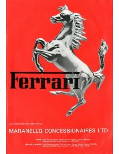 1980 FERRARI MARANELLO CONCESSIONAIRES BROCHURE ENGELS