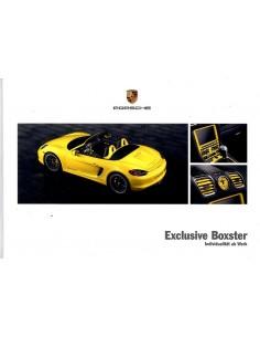 2013 PORSCHE BOXSTER EXCLUSIVE HARDCOVER BROCHURE DUITS