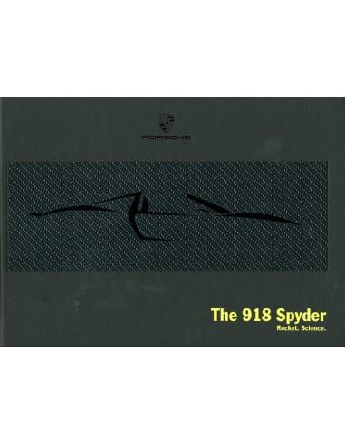 2013 PORSCHE 918 SPYDER HARDCOVER BROCHURE ENGELS