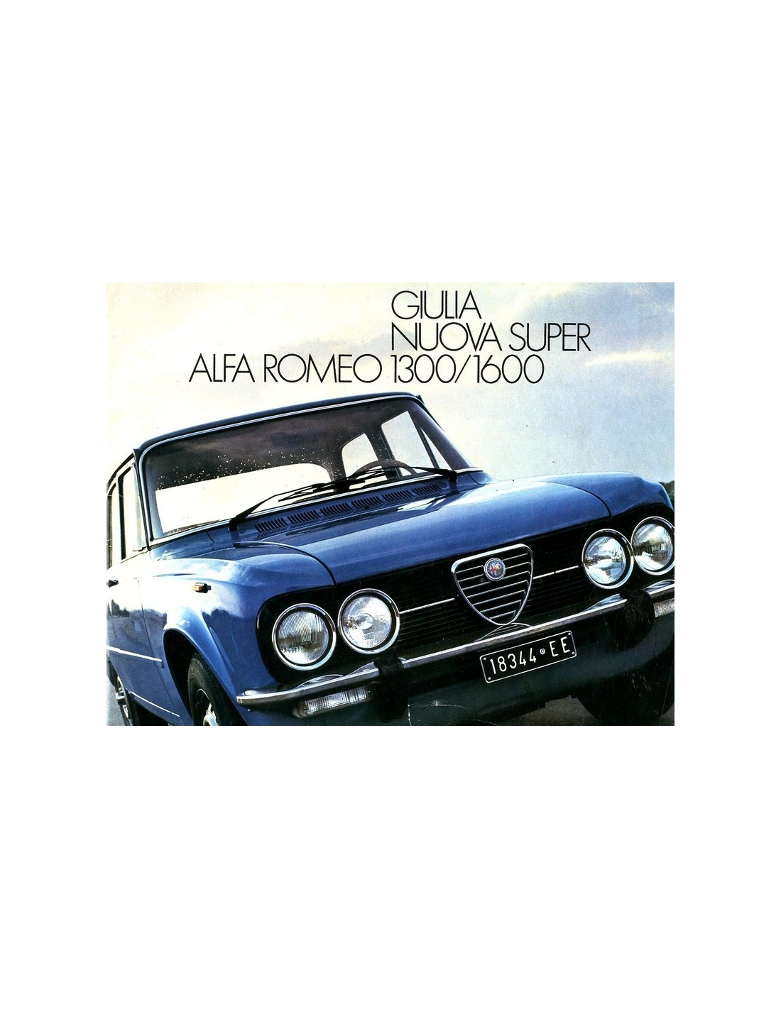 1975 ALFA ROMEO GIULIA NUOVA SUPER 1300 1600 BROCHURE DUTCH