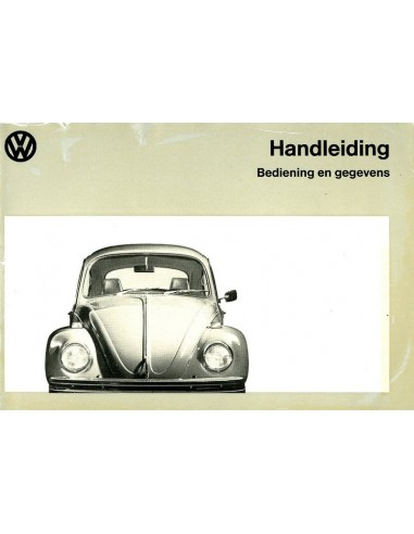 1972 VOLKSWAGEN BEETLE 1200 1300 OWNER'S MANUAL DUTCH