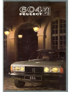 1982 PEUGEOT 604 BROCHURE DUITS