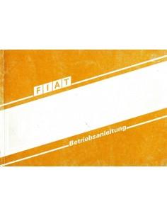 1989 FIAT DUCATO INSTRUCTIEBOEKJE DUITS
