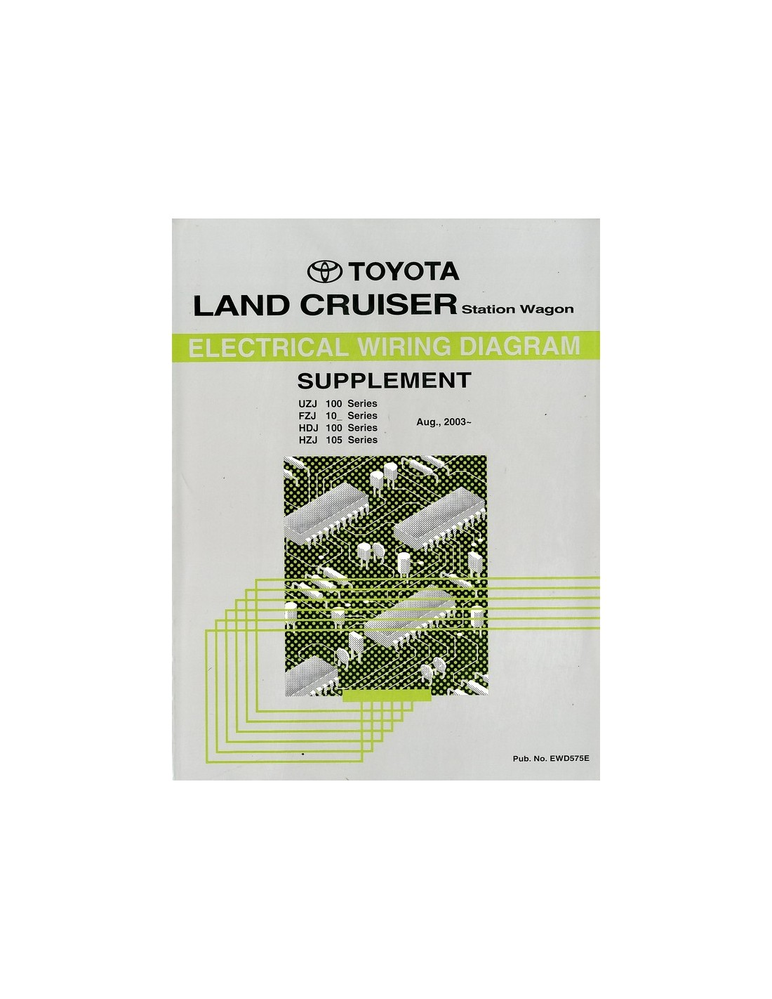2003 Toyota Landcruiser Prado Electrical Wiring Diagram Workshop Manual English