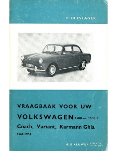 1961 -1964 VOLKSWAGEN 1500 & 1500 S VRAAGBAAK NEDERLANDS