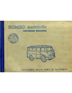 1957 ALFA ROMEO AUTOTUTTO BENZINE ONDERDELENHANDBOEK ITALIAANS