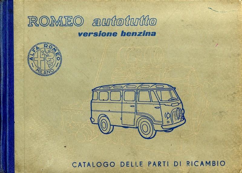 1957 ALFA ROMEO AUTOTUTTO SPARE PARTS CATALOG ITALIAN
