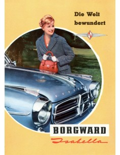 1959 BORGWARD ISABELLA BROCHURE DUITS