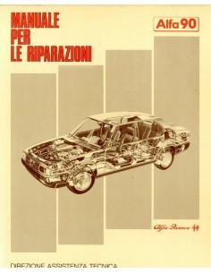 1984 ALFA ROMEO 90 WERKPLAATSHANDBOEK ITALIAANS