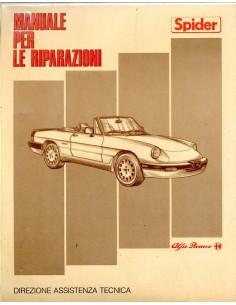 1986 ALFA ROMEO SPIDER QV WERKPLAATSHANDBOEK ITALIAANS