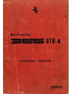 1968 FERRARI GTB/4 WERKPLAATSHANDBOEK ITALIAANS
