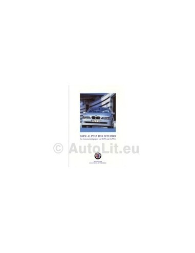 2001 BMW ALPINA B10 BITURBO BROCHURE DUITS