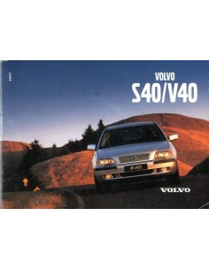 2001 VOLVO S40 V40 INSTRUCTIEBOEKJE NEDERLANDS