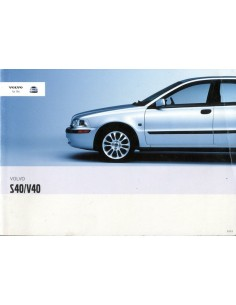 2003 VOLVO S40 V40 INSTRUCTIEBOEKJE NEDERLANDS