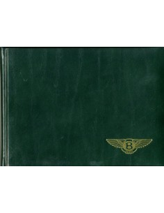 1993 BENTLEY BROOKLANDS HARDCOVER INSTRUCTIEBOEKJE ENGELS