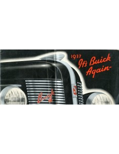 1937 BUICK EIGHT MODELLEN BROCHURE ENGELS