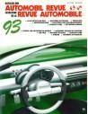 1993 AUTOMOBIL REVUE JAHRESKATALOG DEUTSCH FRANZÖSISCH