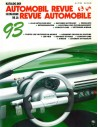 1993 AUTOMOBIL REVUE YEARBOOK GERMAN FRENCH